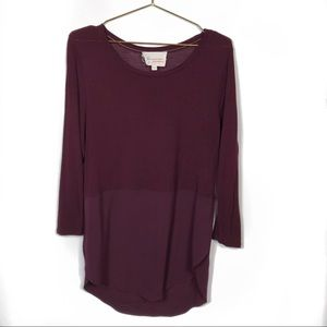 Two by Vince Camuto Burgundy Top #792